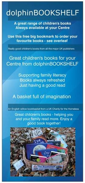 This is an image of a dolphinBOOKSHELF parent Big Bookmark to help you sell more books in your Centre